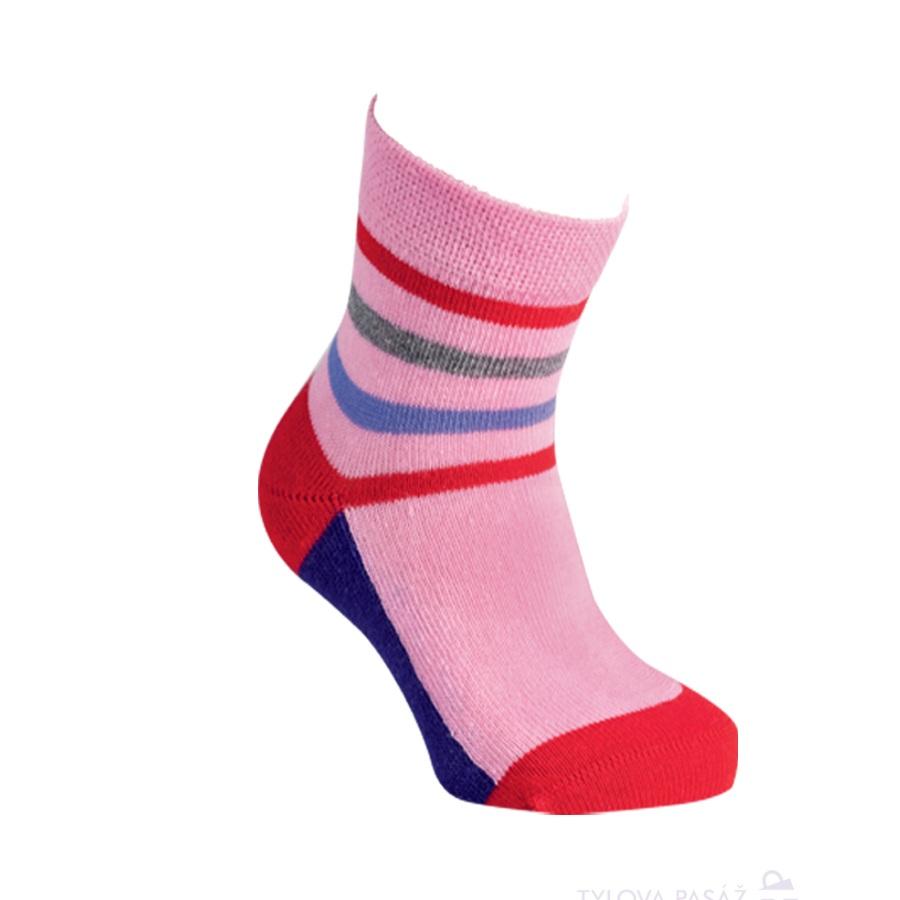 42a4882ca93 2084316 BANANNA DĚTSKÉ PRUHOVANÉ PONOŽKY RŮŽOVÁ. Dětské ponožky. Módní dětské  bavlněné barevné elastické ponožky RS
