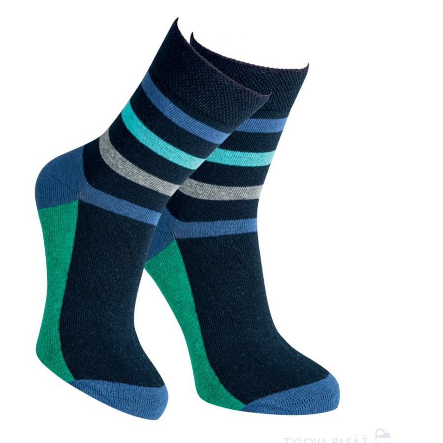 af039982763 2084316 BANANNA DĚTSKÉ PRUHOVANÉ PONOŽKY NAVY. Dětské ponožky. Módní dětské  bavlněné barevné elastické ponožky RS